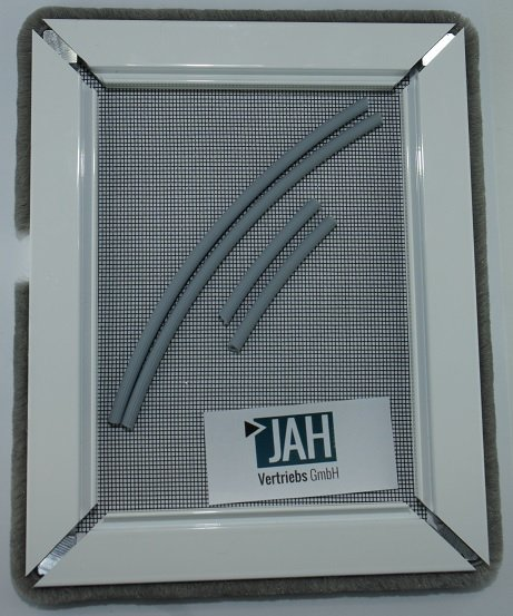 Insektenschutz Spannrahmen als Bausatz Bürstenprofil (Bürsten Klemmmontage) alternativ Stiftmontage